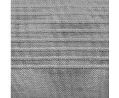 Nuances du Monde Lana Jeté de Canapé à Franges Coton Gris 180 x 220 cm