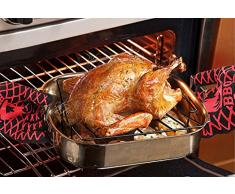 Gants de Cuisine, Melojoy Chaleur Résistants de Gants de Four - thermorésistants anti chaleur en silicone, Gants Anti Feu, Barbecue Gants Ignifugés, Idéal pour Four, Barbecue et Cuisine (Lot de 2)