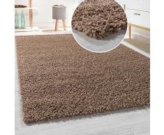 Tapis Shaggy Longues Mèches En Différentes Tailles Et Coloris, Couleur:Beige, Dimension:150x150 cm carré