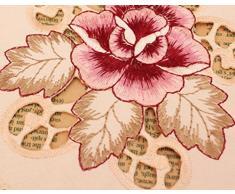 EQLEF de ® Lot de 4 napperons en dentelle brodée ronde ciselée Vase de table