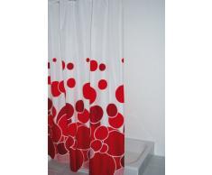 Ridder Kani 403076 Rideau de douche textile Rouge 180 x 200 cm