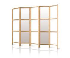 murando Paravent XXL 225x171 cm 5 Parties - intisse Qualite Allemande- Toile- Elegant- separer- Bois- Design-Motif-Fait a la Main-Deco - Japon p-A-0009-z-c