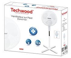 Techwood TVE-431 Ventilateur sur Pied 40 W 230 V 40 cm
