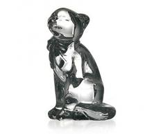 """Statue, figurine en cristal, collection """"Cars"""", satiné, Grand Chat, 15 cm (GERMAN CRYSTAL powered by CRISTALICA)"""
