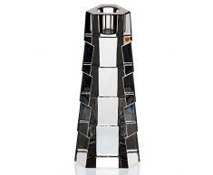 "Chandelier, Bougeoir, cristal, Collection ""HEXAGON"", 17 cm, photophore, transparent (GERMAN CRISTAL powered by CRISTALICA)"