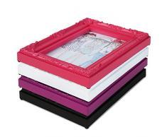 Cadre photo - rose - style baroque - 10x15cm - disponible en taille S, M, L, XL ou XXL