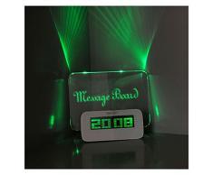 Réveil Digital Electroniques Tableau Radio-reveil Lumineux Fluorescent L'alarme Horloge Réveil Original LED avec Surligneur-Vert