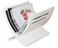 PEGANE Porte revues Magazine en Bois Blanc, Dim : L30 x H29 x P36 cm