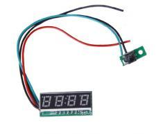 Vert 0,28 pouces LED Horloge Digital Réglable 24 h DC 7-30V pour Voiture Moto
