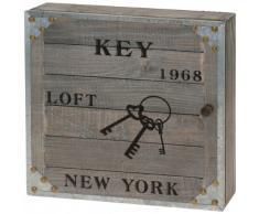 Armoire à clés rétro - motif: new york 1968 - coffret á 6 crochets pour clés - boîte pour clés