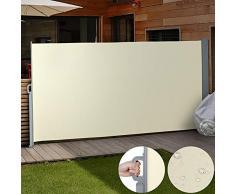 Jago - Store Latéral Paravent Extérieur Rétractable Taille/Coloris au Choix (300 x 160 cm, Beige)