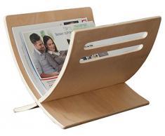 Porte revues magazine en bois nature, Dim : L30 x H29 x P36 cm -PEGANE-