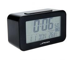Jago - Réveil Digital Rétroéclairage LED Bleu Fonction Snooze Affichage Date Température (Coloris au Choix)