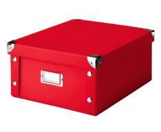 Zeller 17917 Boite de rangement en carton, 31 x 26 x 14 cm, rouge