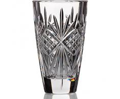 "Vase, vase de cristal, collection ""PAVO"", transparent, hauteur 15 cm, cristal, style moderne (GERMAN CRYSTAL powered by CRISTALICA)"