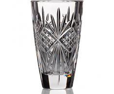 "Vase, vase de cristal, collection ""PAVO"", transparent, hauteur 15 cm, cristal, style moderne (GERMAN CRYSTAL powered by CRISTALICA)"