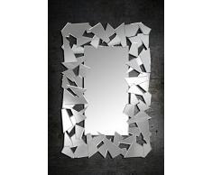 Miroir moderne avec contour design éclat de verre