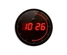 Orium 11454 Horloge LED Ronde Noir Diamètre 30 cm