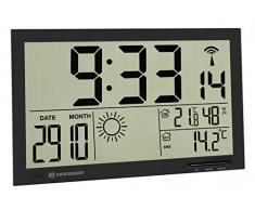 Bresser MyTime Horloge murale météo Jumbo LCD, noir