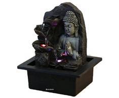 Fontaine d'intérieur Feng Shui Bouddha Spirit 26 cm avec LED Multicolore