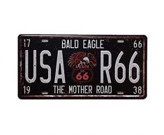 NiceButy Plaque dimmatriculation Antique américaine Signe métal numérique Signe détain pour Les Bars, Les Bars, Les magasins de décoration Maison