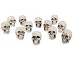 12 crâne décoration d'Halloween dirige