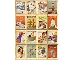 Monkeybrother 32 Stk. Vintage Vieille Europe Poster Cartes Postales de voyage