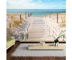 murando Papier peint intissé 200x140 cm Décoration Murale XXL Poster Tableaux Muraux Tapisserie Photo Trompe loeil paysage nature mer plage c-A-0054-a-b