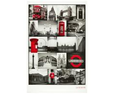 1art1® 48800 Poster Londres Collage Rouge 91 X 61 cm