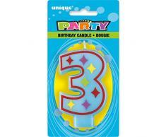 Unique Party - 37553 - Bougie Décorative dAnniversaire Numéro 3