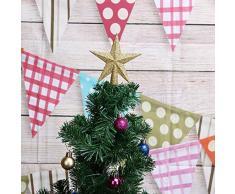 Domybest Cimier de Sapin de Noël Étoile Scintillante Sommet de Sapin Décoration darbre de Noël (Or, 20cm)