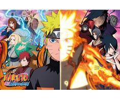 empireposter 741059Naruto Shippuden–Split–Manga Anime Poster, Papier, Multicolore, 91,5x 61x 0,14cm