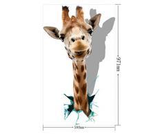 niceeshop(TM) Créatif Sticker/autocollant Mural de Haute Définition en PVC avec Motif de la Tête de Girafe