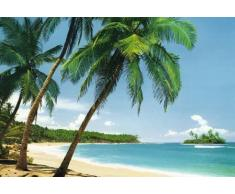 1art1 40554 Poster autocollant Modèle Île tropicale 368 x 254 cm (Import Allemagne)