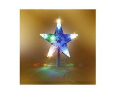 VIRAGE Cimier/étoile de sapin de Noël multicolore