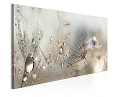 murando Impression sur Toile intissee 120x40 cm 1 Piece Tableau Tableaux Decoration Murale Photo Image Artistique Photographie Graphique Fleurs Nature Gris Pissenlit b-C-0169-b-b