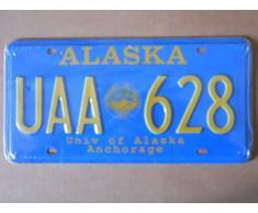 Plaque d'immatriculation américaine, 31 x 16 cm, motif Alaska