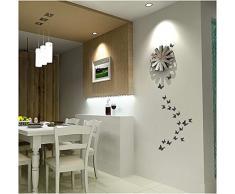 ufengke® 12 Pcs 3D Papillons Stickers Muraux Design de Mode Bricolage Papillon Coloré Art Autocollants Artisanat Décoration de La Maison, Bleu et Blanc