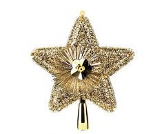 Feerie Christmas Cimier de sapin Brillant - 23 cm. - Or