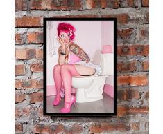 uniqueaur sexy femme Peinture murale Tableau Déco pour barre de club de salle de bain Décoration de chambre, 40cm x 50cm