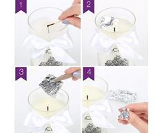 JewelCandle Cuddle Candle - Bougie Parfumée avec Bijou Surprise en Argent (Boucles d'oreilles)