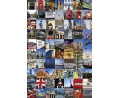 1art1 51485 Poster Londres Collage 70 Endroits à Visiter 91 x 61 cm