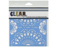Clear Scraps pochoirs 6 « X 6 »-napperon