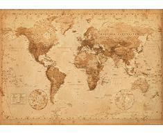 GB Eye Ltd, World Map, Antique Style, Poster Géant (100 x 140 cm)