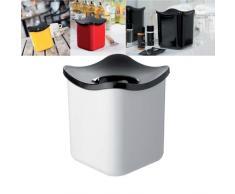 Rosti Mepal 108552030600 Cube Poubelle de Table Mélamine Blanc 12 x 12 x 13,6 cm