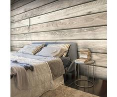 murando® Papier peint intissé 350x245 cm - 3 couleurs au choix - Top vente - Papier peint - Tableaux muraux déco XXL - bois textures f-A-0450-a-b