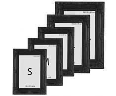 Cadre photo - noir - style baroque - 13X18cm - disponible en taille S, M, L, XL ou XXL