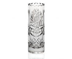 "Vase, vase en cristal, collection ""LINA"", 24 cm, faits main, transparent (GERMAN CRYSTAL powered by CRISTALICA)"