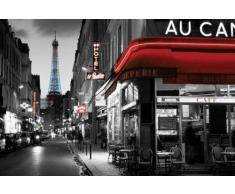 1art1 56666 Poster Paris Rue Parisienne et Tour Eiffel 91 x 61 cm