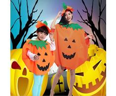HENGSONG Enfants Vêtements de Citrouille Orange Foules de Garçons de Halloween Fête Deco Dress and Hat
